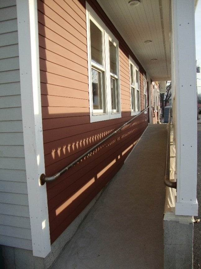 Accessible Ramp on one side